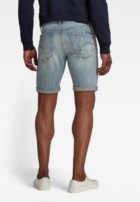 G-Star - 3301 SLIM SHORTS - Shorts di jeans - vintage nassau destroyed - 1