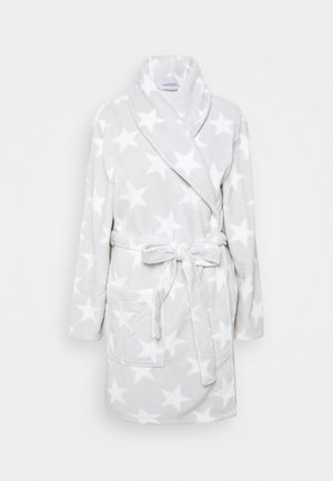 Dressing gown - white/grey