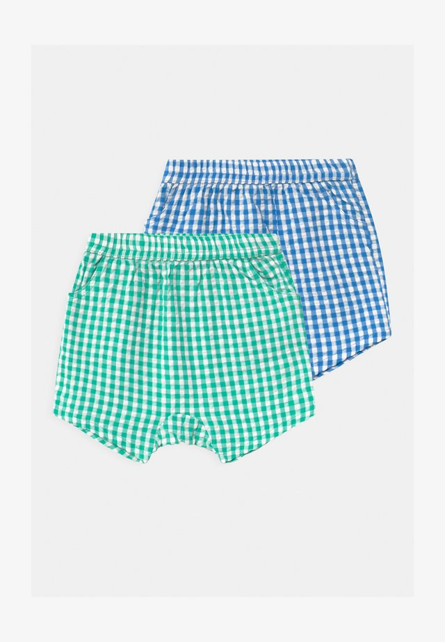 KELLY 2 PACK UNISEX - Shorts - blue/green
