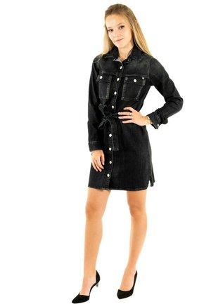 Robe en jean - noir