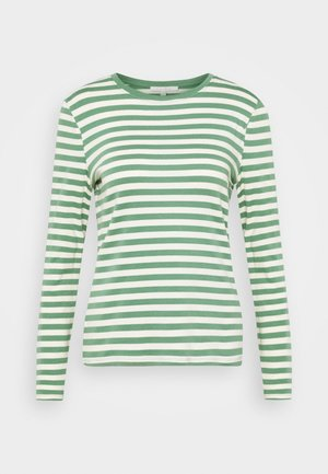 Long sleeved top - green/beige
