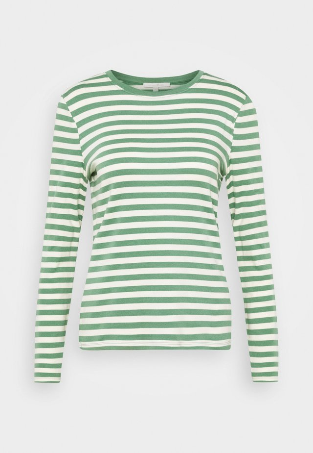 Long sleeved top - green/beige