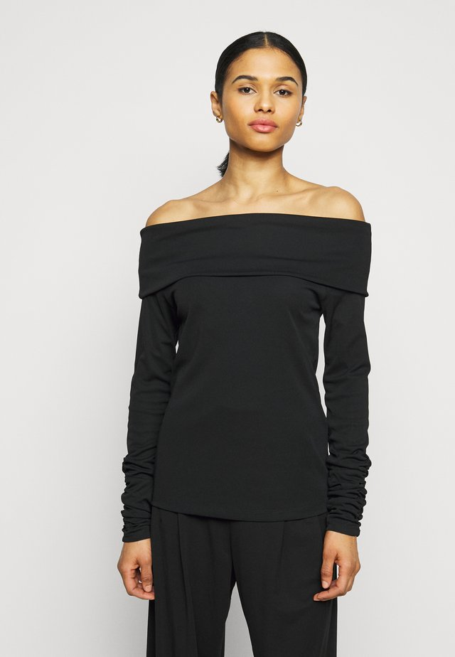 CARISI OFF SHOULDER - Top s dlouhým rukávem - black