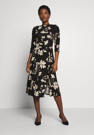 LARGE SPLIT MIDI DRESS - Sukienka z dżerseju - black
