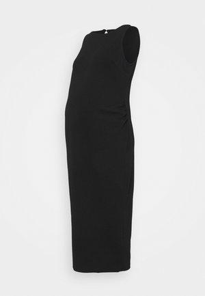 BODY CON DRESS - Žerzejové šaty - black