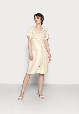 LASHIRTING - Day dress - ecru/moutarde