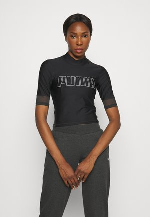 TRAIN EVERSCULPT MOCK NECK - T-shirt imprimé - black