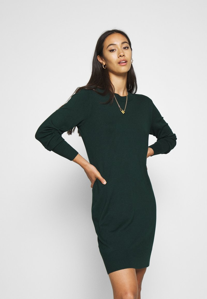Even&Odd - JUMPER Knit DRESS - Shift dress - scarab