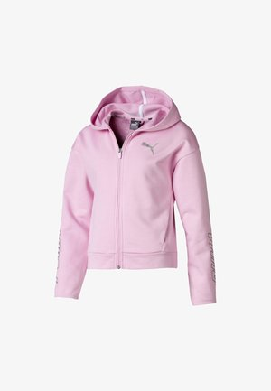 PUMA ALPHA HOODED GIRLS' SWEAT JACKET FLICKA - Hoodie met rits - pale pink