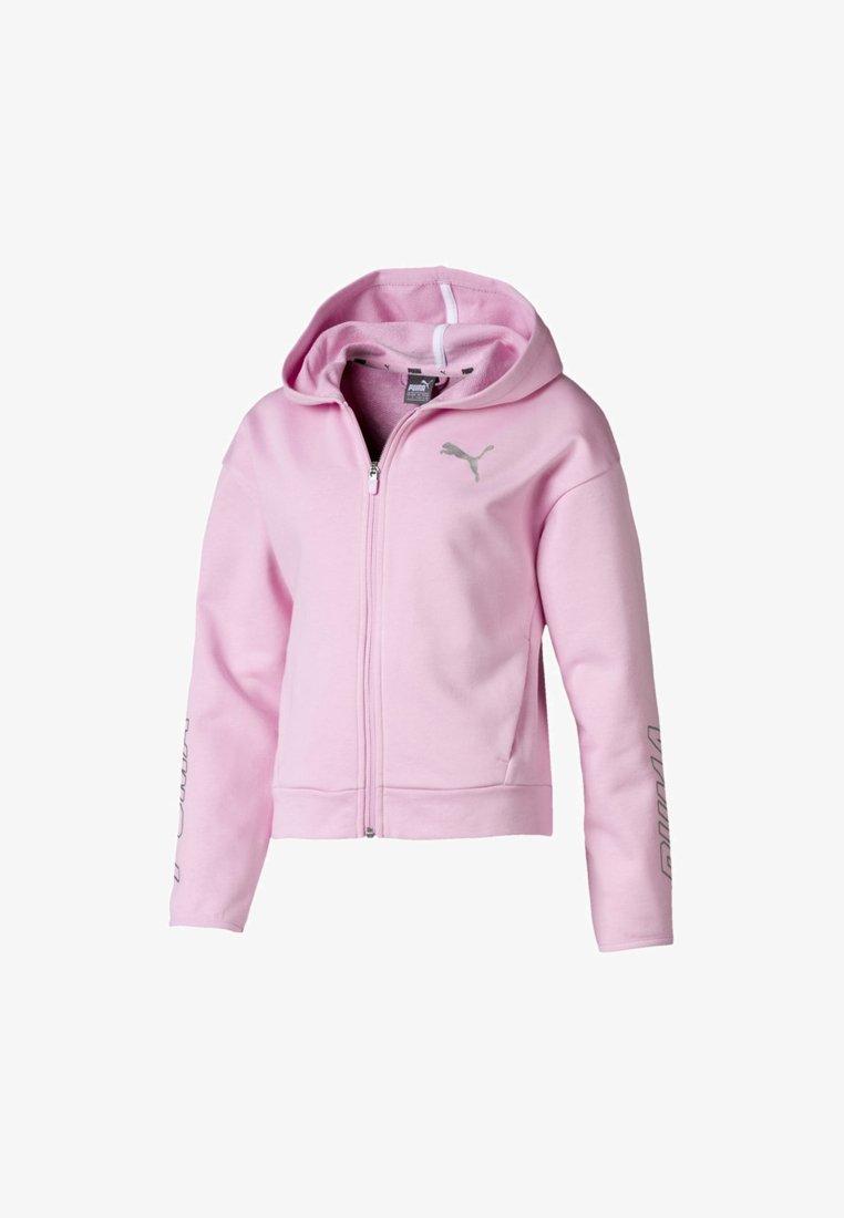Puma - PUMA ALPHA HOODED GIRLS' SWEAT JACKET FLICKA - Sweatjacke - pale pink