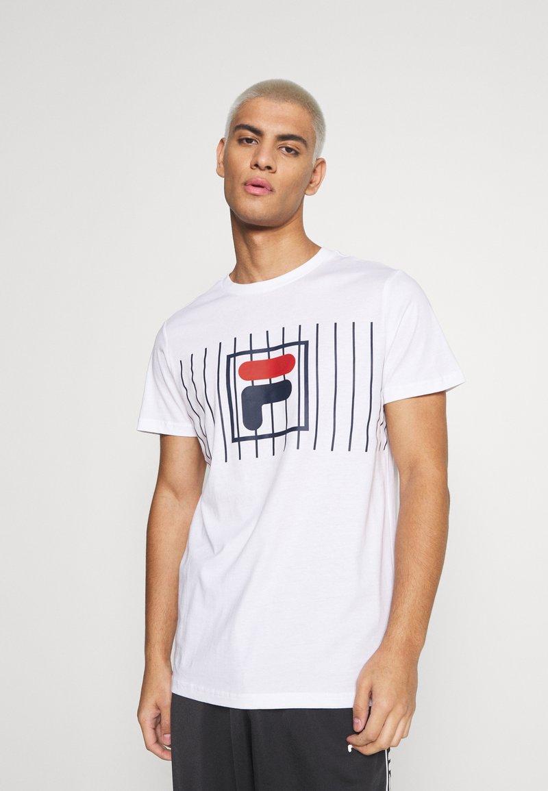 Fila - SAUTS TEE - Print T-shirt - bright white
