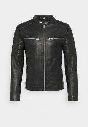 WARRIOR - Veste en cuir - black