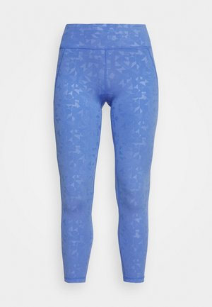 ALL DAY EMBOSSED 7/8 LEGGINGS - Leggings - blue