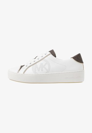 KIRBY LACE UP - Matalavartiset tennarit - optic white/brown