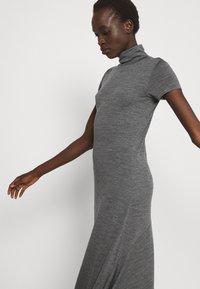 Polo Ralph Lauren - SHORT SLEEVE DAY DRESS - Maxi dress - boulder grey heather - 3