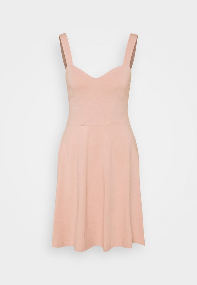 PCANG STRAP DRESS - Jerseyjurk - misty rose
