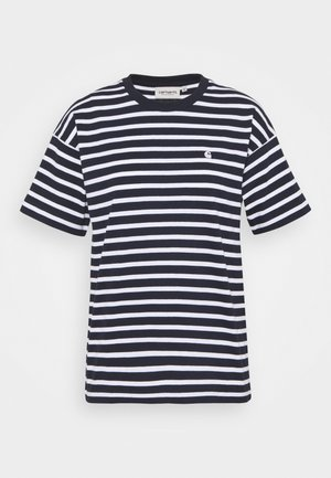 ROBIE - Print T-shirt - dark navy/white
