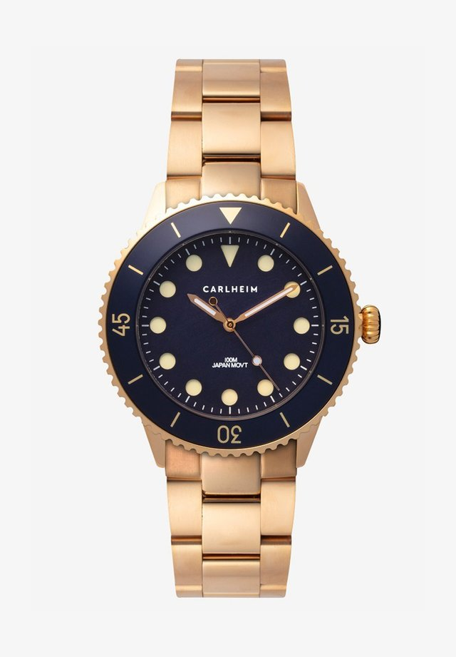 DIVER 40MM LINK - Ure - rose gold-blue