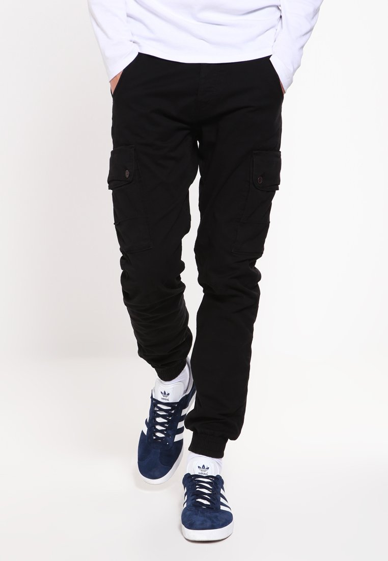 Jack & Jones - JJIPAUL JJWARNER  - Cargo trousers - black