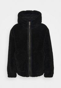 HOODED - Summer jacket - black