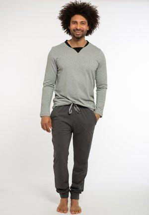 Pyjama set - hellgrau / grau