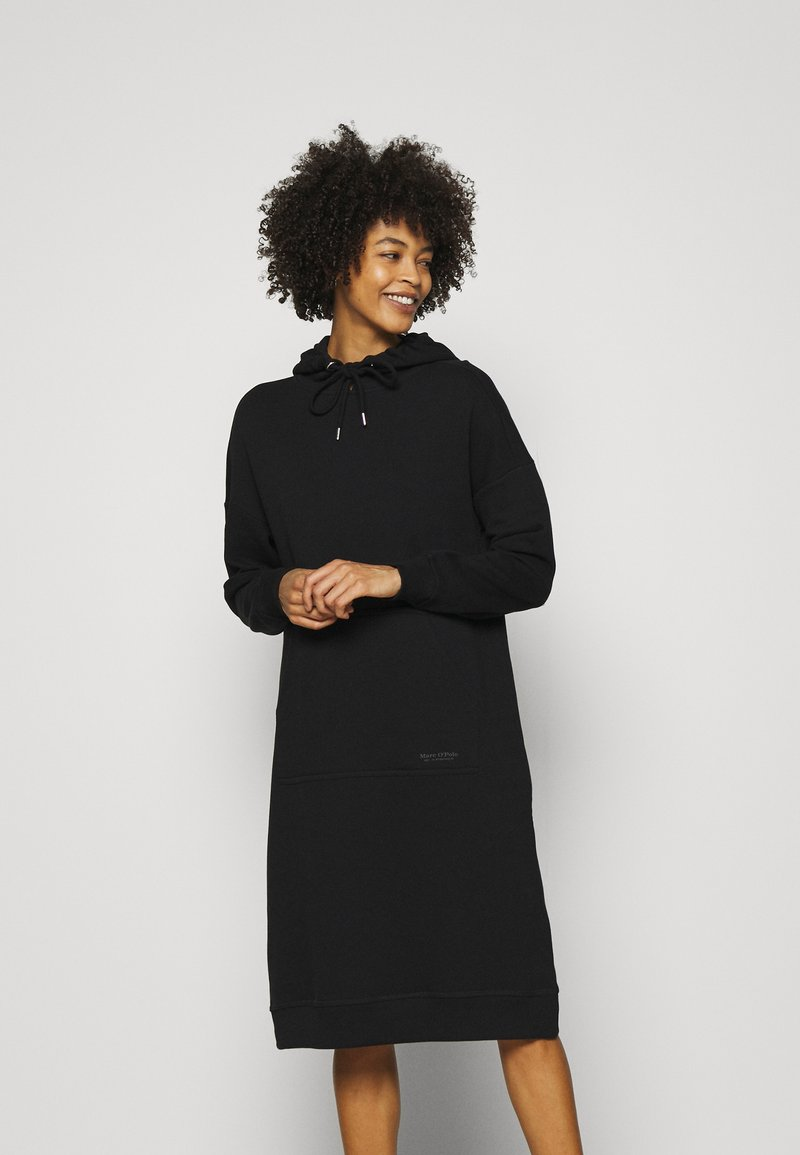 Marc O'Polo - DRESS HOOD - Kjole - black
