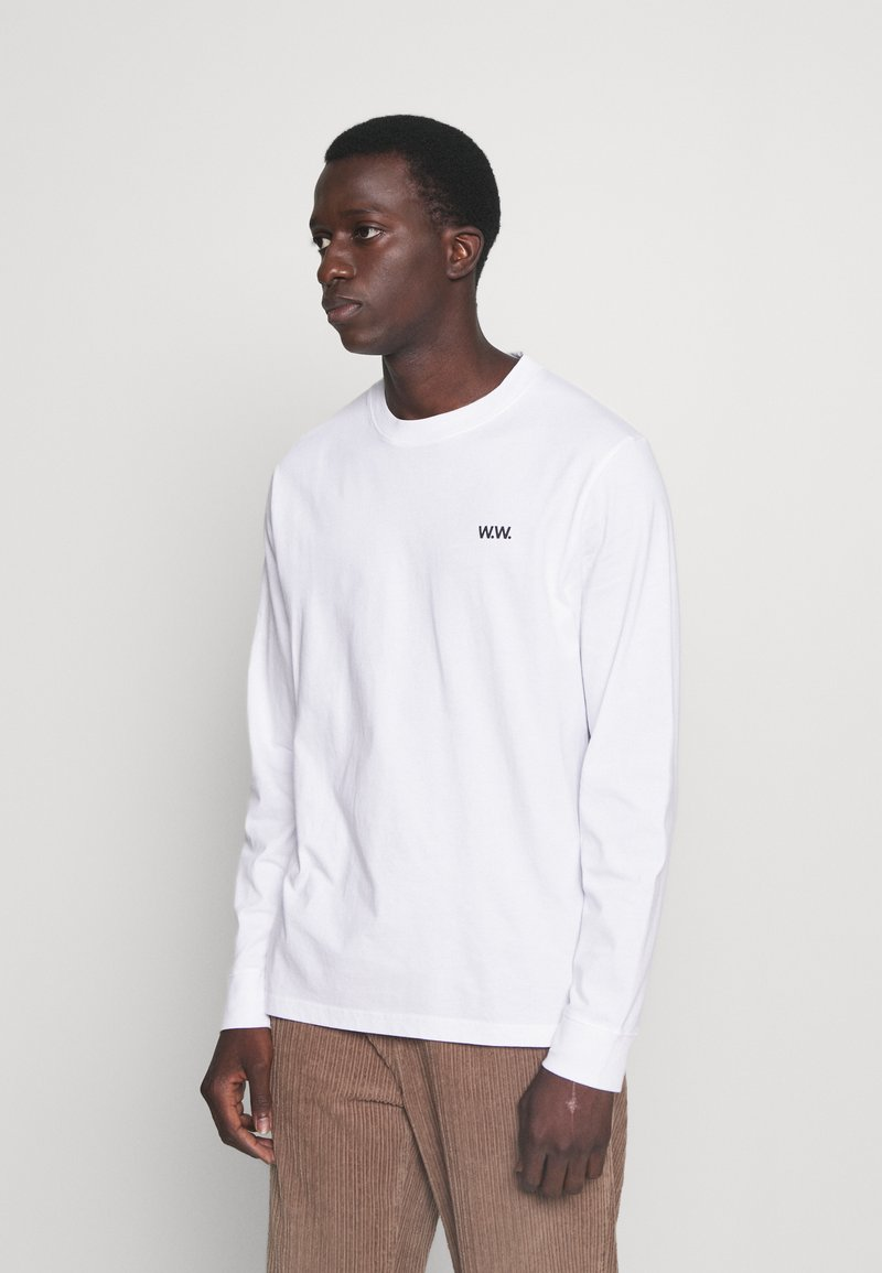 Wood Wood - MARK VORTEX - Long sleeved top - white