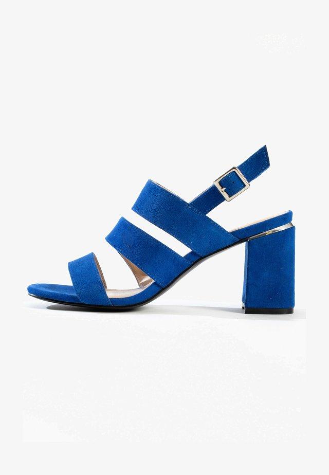 CHARIS - Sandalen met hoge hak - dark blue