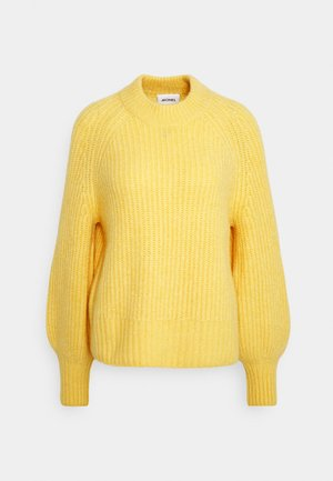 SONJA - Strickpullover - yellow dusty light