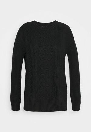 BLOCKED CABLE CREW - Jumper - black