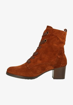 Lace-up ankle boots - nuts