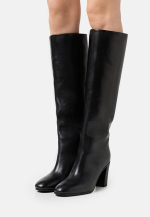Booties - Stivali alti - black dark