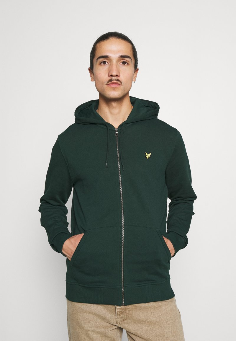 Lyle & Scott - ZIP THROUGH HOODIE - Zip-up sweatshirt - dark green