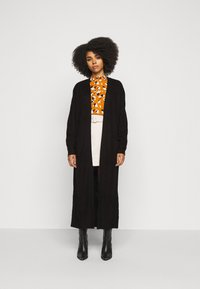 Missguided - LONGLINE PATCH POCKET  - Cardigan - black - 0