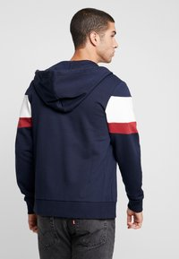 Jack & Jones - JORNEWSHAKEDOWN BLOCK ZIP  - veste en sweat zippée - navy blazer - 2