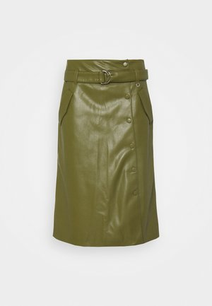 A-line skirt - deep green