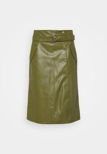 Áčková sukně - deep green