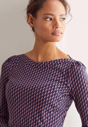 Jersey dress - tiefblau, knospen