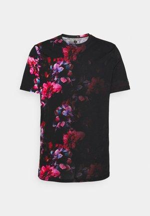 JANNON - Print T-shirt - black/pink