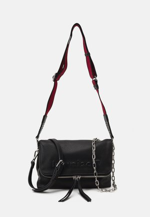 BOLS EMBOSSED HALF VENECIA - Across body bag - black