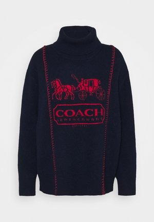 HORSE AND CARRIAGE - Strickpullover - dark blue