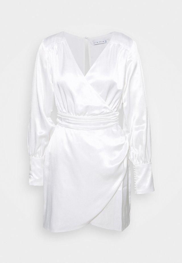 ALLURE DRAPE DRESS - Cocktailjurk - off white