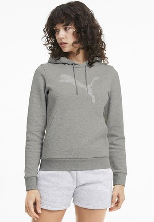 Hoodie - light gray heather-cat