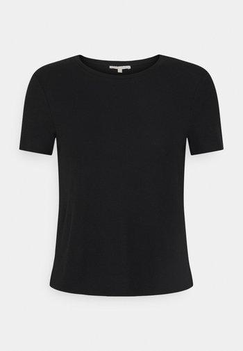 TEE - Print T-shirt - deep black