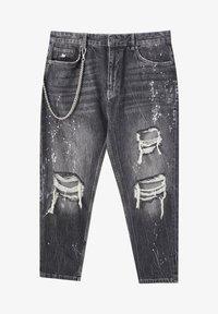 PULL&BEAR - Jeans baggy - mottled dark grey - 6