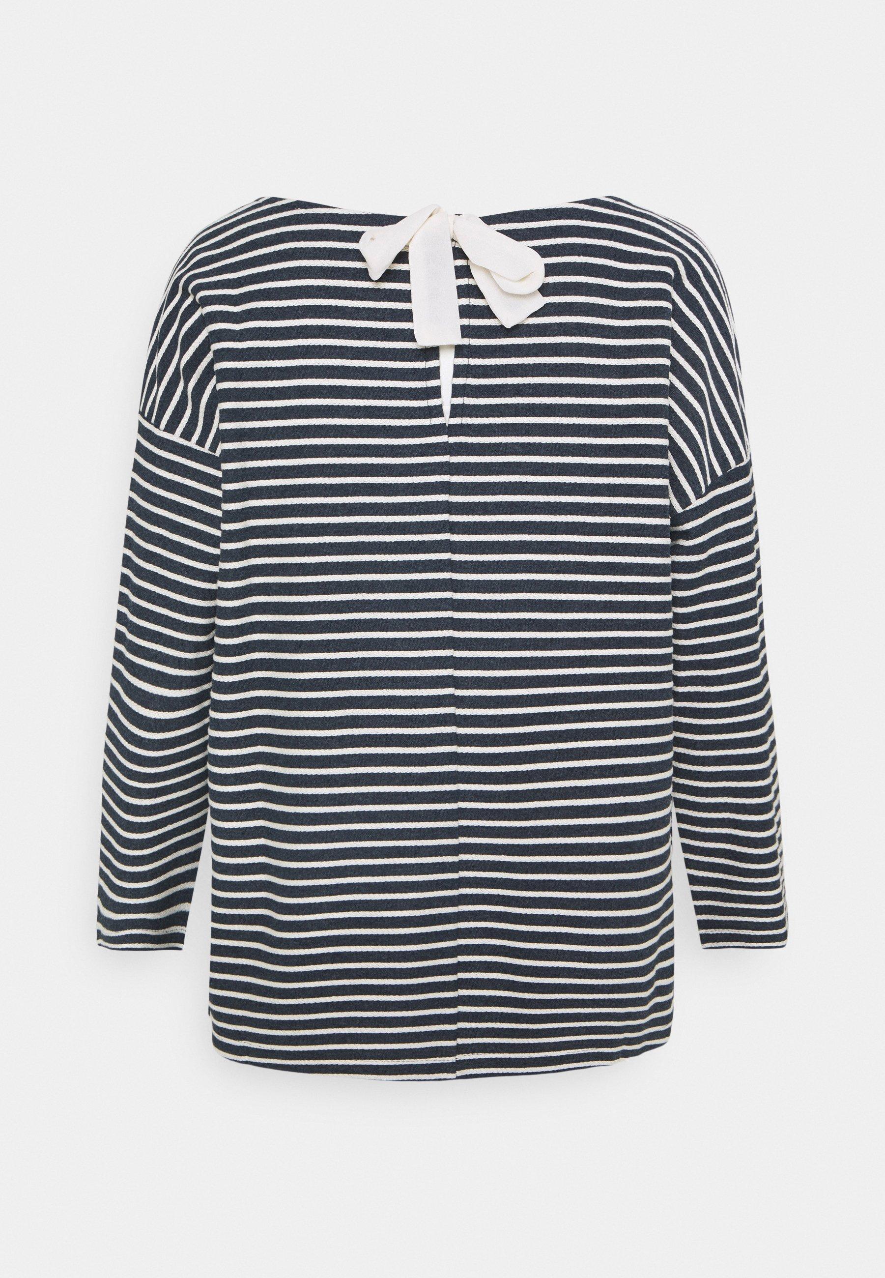 Donna LOOSE STRUCTURED STRIPE TEE - Maglietta a manica lunga