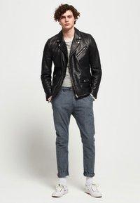 Superdry - HERO - Leather jacket - black - 1