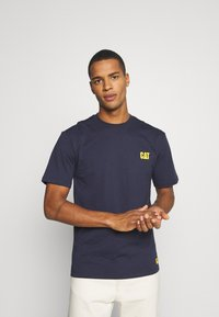 Caterpillar - CAT SMALL LOGO  - T-shirt con stampa - blue - 0