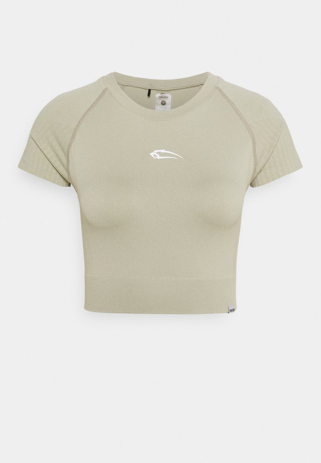 SEAMLESS CROPPED - T-shirt - bas - grau