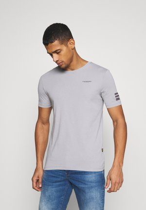 TEXT SLIM - Printtipaita - steel grey